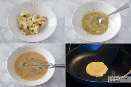 Tortitas de Platano. Pasos