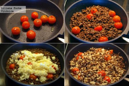 Lentejas Mijo Tomates Pasos