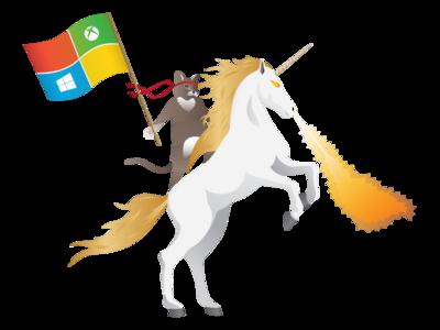 Así nació el ninjacat de Microsoft: el emblemático gato a lomos de un unicornio escupefuego