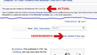 Wikipedia experimenta con una nueva forma de mostrar la fecha de actualización de los artículos