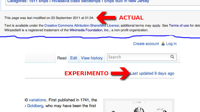 Wikipedia Timestamp