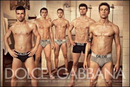 Dolce & Gabbana Underwear 2010: los mejores futbolistas italianos en ropa interior