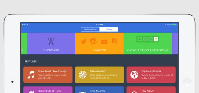 Workflow en iPad