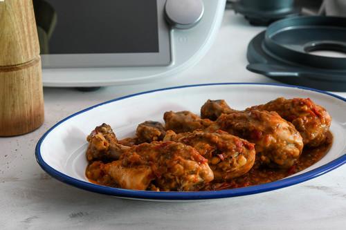 Pollo al chilindrón, receta clásica española con Thermomix