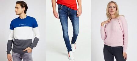 50% de descuento en las rebajas de Guess para encontrar ofertas en pantalones, jerseys o chaquetas de invierno