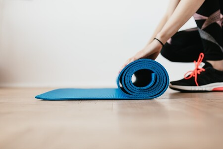 Mujer Tapete Yoga
