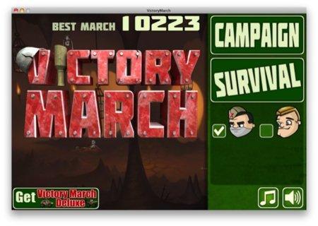 Victory March, un alocado y divertido juego para OS X