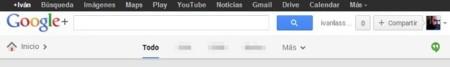Barras superiores de Google+