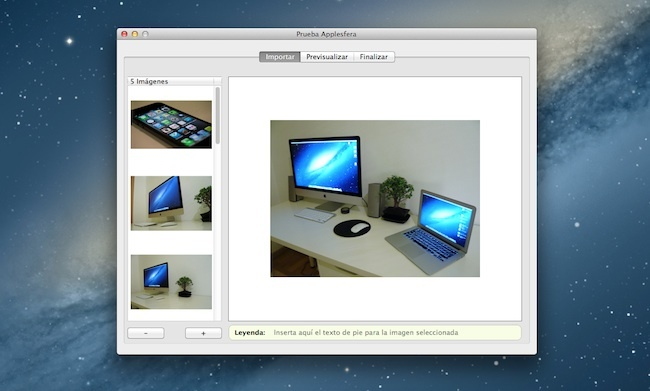 Widgerador crea WIdgets iBook Author galería