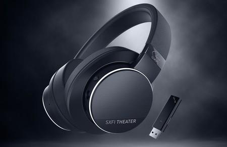 """Creative pone a la venta los SXFI THEATER, unos auriculares inalámbricos con audio """"holográfico"""" para juegos y cine"""