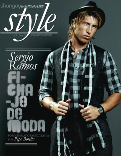 Sergio Ramos horrible en la revista Shangay