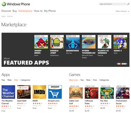 Windows Phone Mango tendrá un Marketplace web