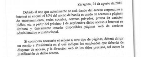 La Diputación de Zaragoza deja sin internet a sus trabajadores por abusar de conexiones lúdicas
