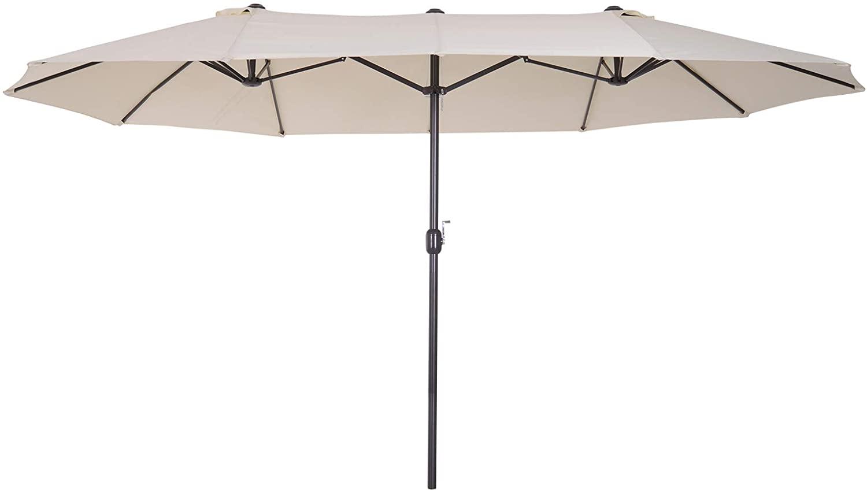 Sombrilla parasol doble para jardín