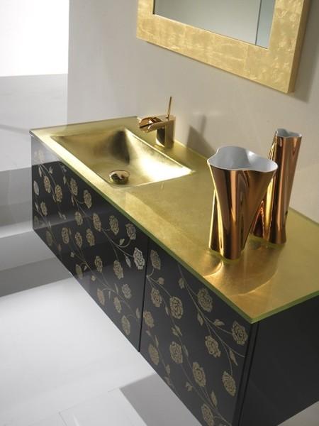 Dale a tu baño un toque dorado