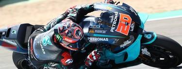 Fabio Quartararo vuela en Jerez, desastre para Andrea Dovizioso y Marc Márquez no correrá la carrera