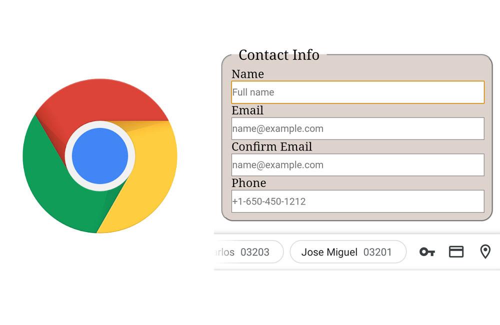 Chrome para Android-OS prueba una mas reciente barra para optimizar el autocompletado de formularios
