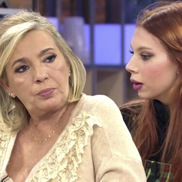"""Alejandra Rubio se enfrenta a su tía Carmen Borrego y desafía a Jorge Javier Vázquez tras su polémica reconciliación: """"que venga aquí, al plató"""""""
