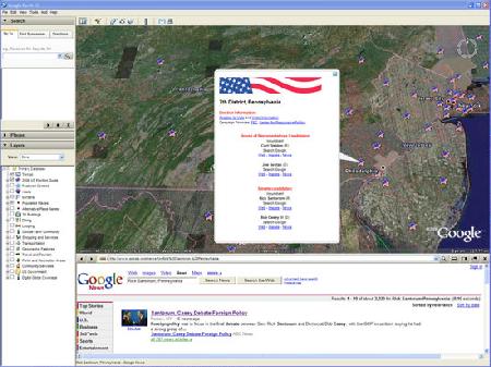 Google usará su Earth para seguir las elecciones en EEUU