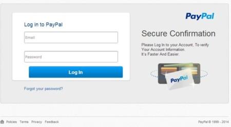 Web falsa de Paypal