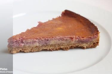 Receta de tarta de queso y mermelada de mora