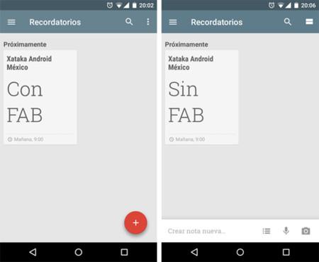 Google Keep 3.1 elimina de su interfaz el FAB