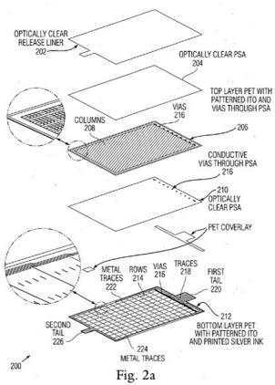 Nueva patente de Apple: Paneles táctiles plásticos de bajo coste