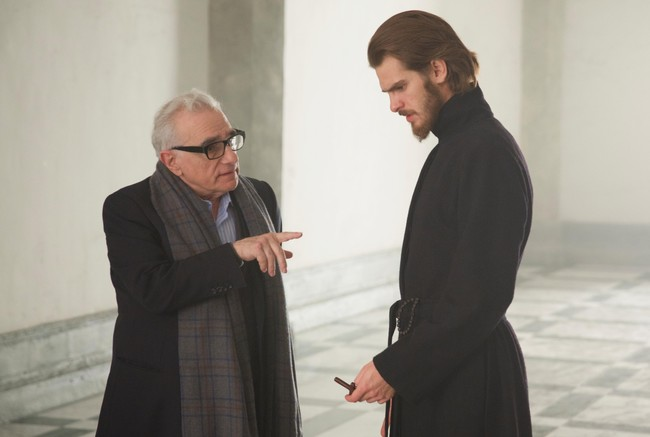 Martin Scorsese y Andrew Garfield
