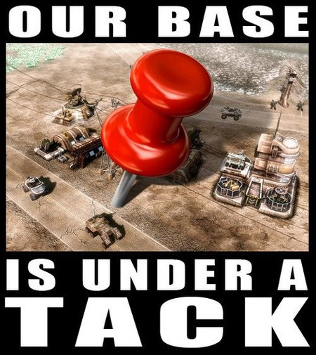 Imagen de la semana: our base is under a tack