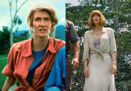 Jurassic World y Jurassic Park, ropa Claire