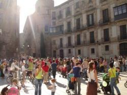 Maratón-protesta con bebés en Barcelona
