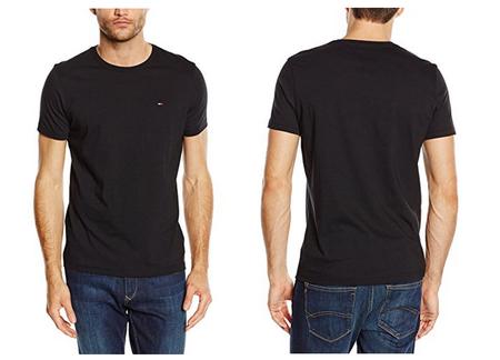 Por sólo 18 euros puedes comprar una camiseta Tommy Hilfiger Denim  negra en Amazon
