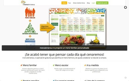 Menuterraneus es una aplicación gratuita que planifica el menú familiar y te ayuda a elaborar la lista de la compra