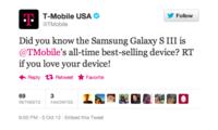 T-Mobile USA afirma que el Samsung Galaxy S III es el smartphone más vendido en la historia de la compañía