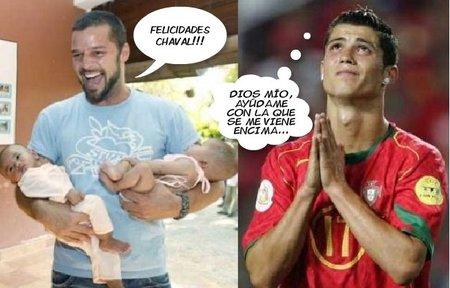 Ricky Martin felicita a Cristiano Ronaldo por su paternidad y el mundo enloquece