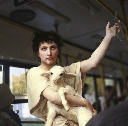 David el pastorcillo en el autobús.