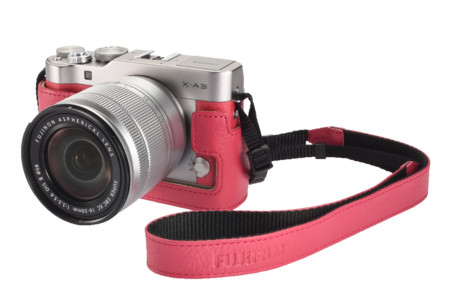 Fuji X A3 Strap Case Body Pink