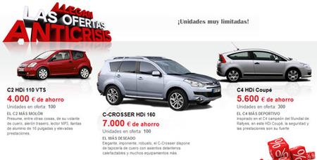 Analizamos las ofertas Anticrisis de Citroën