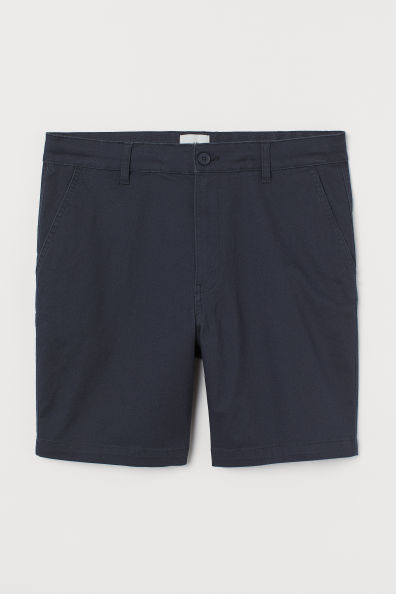 Chinos cortos en algodón azul marino
