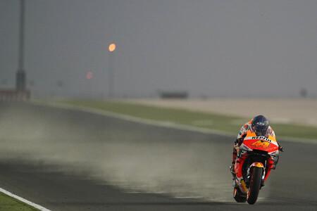 Una tormenta de arena arruina el último día de la pretemporada de MotoGP en Losail