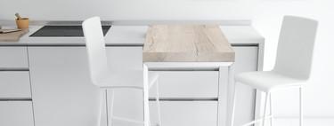 Una buena idea: barra giratoria como solución de lujo para cocinas pequeñas