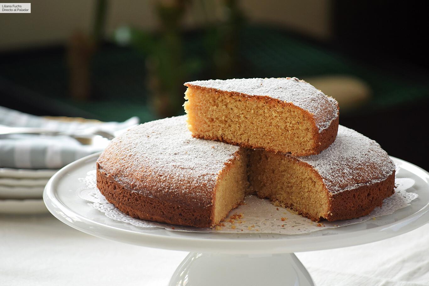 Ricetta Torta Ortigara.Torta Ortigara O Bizcocho Italiano De Almendra Receta De Postre Facil Y Sencilla