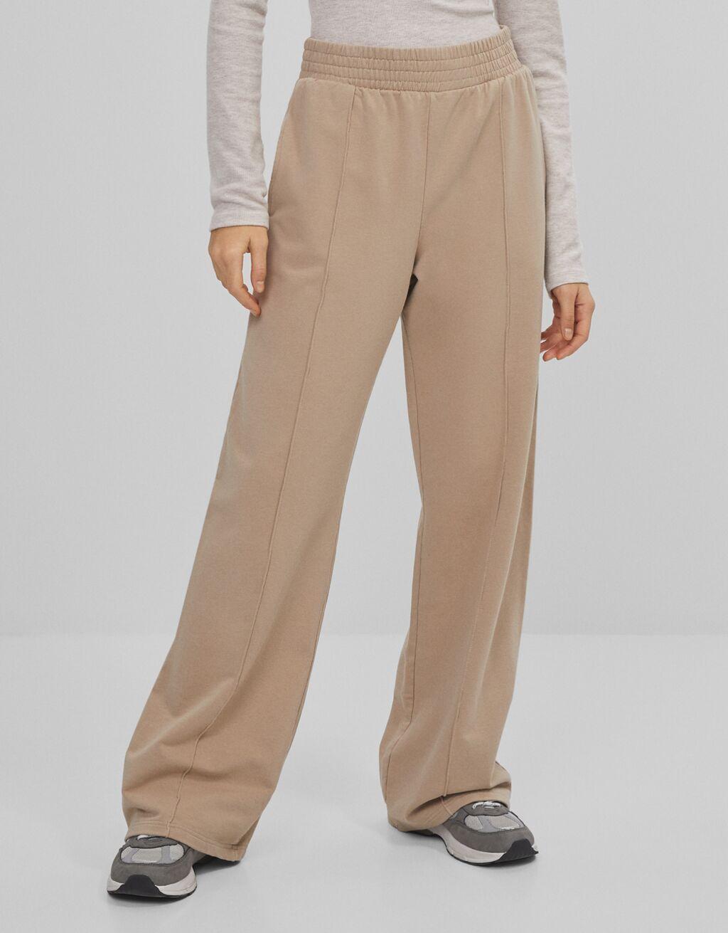 Pantalón wide leg lavado