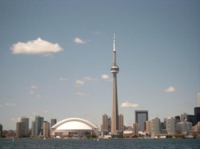 Cn Tower en Toronto, Canadá