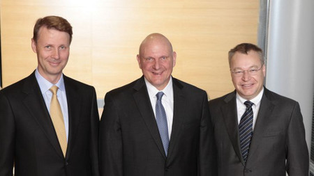 Risto Siilasmaa, Steve Ballmer y Stephen Elop
