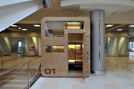 Sleepbox: habitaciones de hotel móviles para esas cabezaditas en tránsito