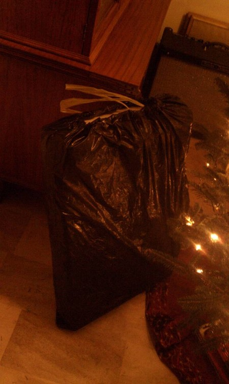 Gift Wrapping Fails Garbage Bag
