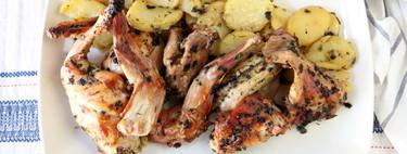 Conejo al horno, la receta ligera de carne asada más sencilla y con todo el sabor