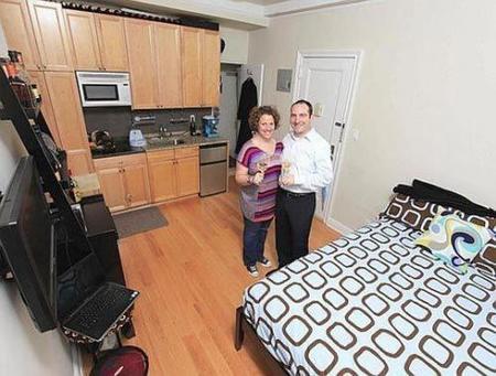 Un apartamento de 16 metros cuadrados for Como decorar un estudio de 20 metros cuadrados