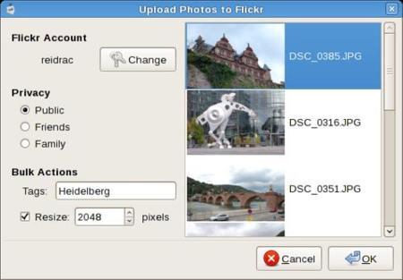 Nautilus flickr Uploader, sube fotos a flickr desde Ubuntu